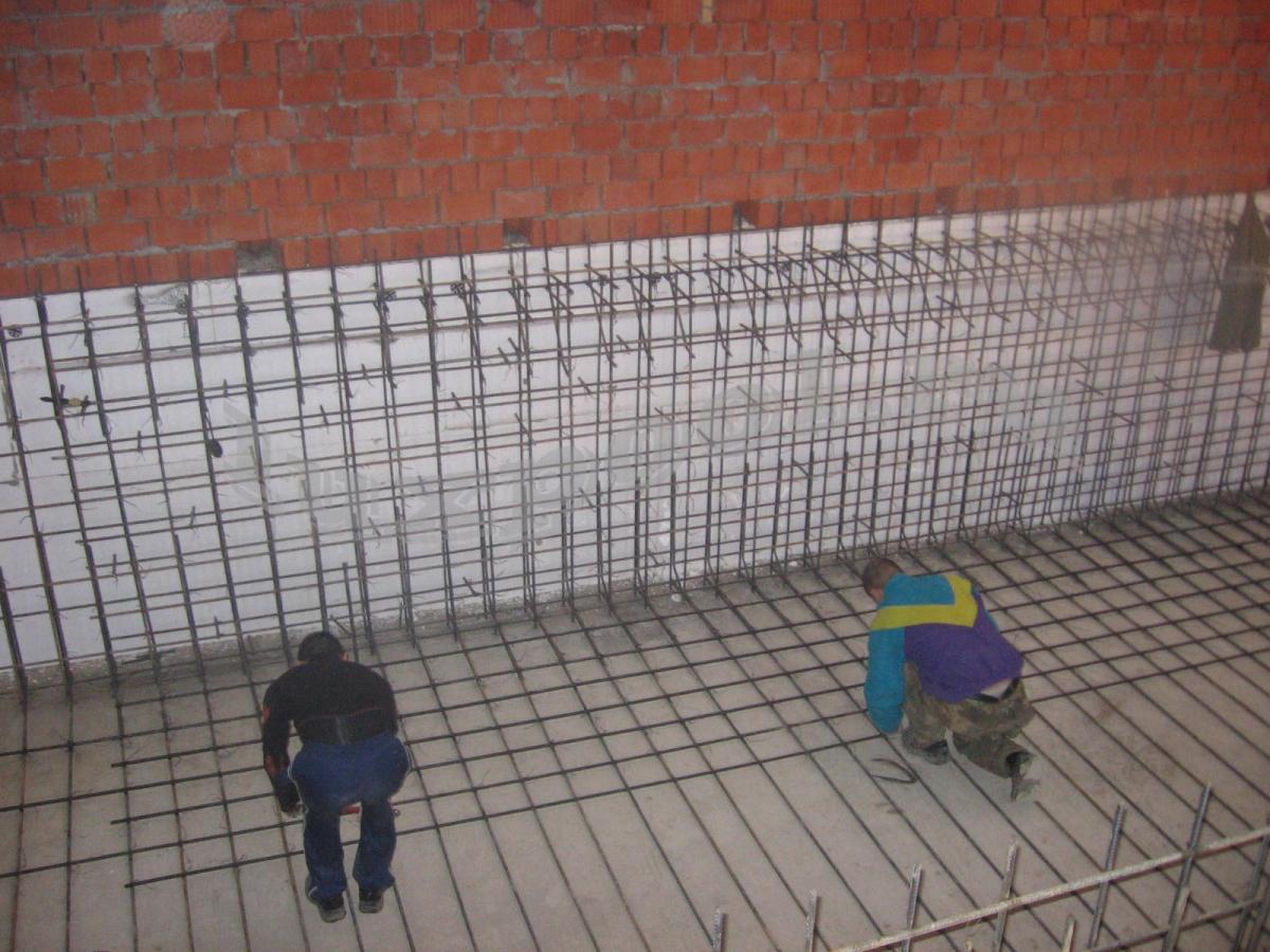 бетонные бассейны - армирование