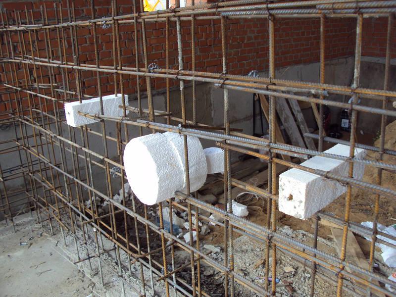 бетонные бассейны - монтаж закладных элементов