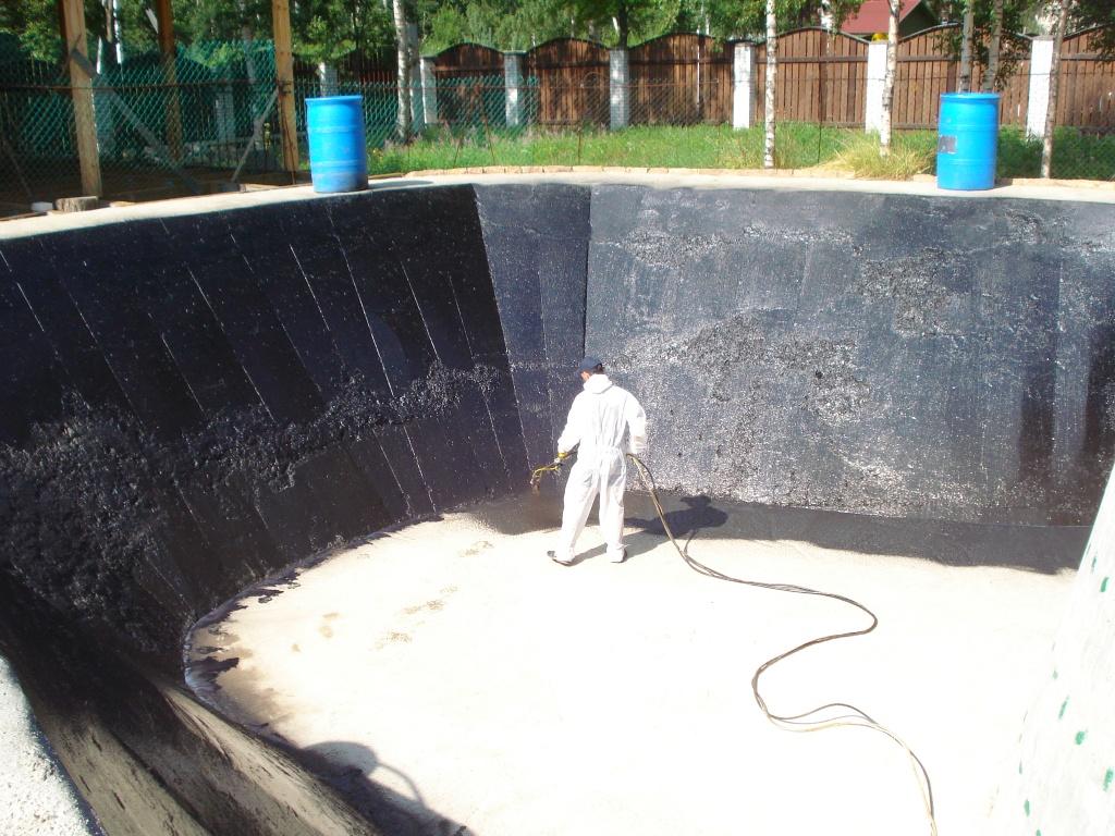 гидроизоляция бассейна жидкой резиной