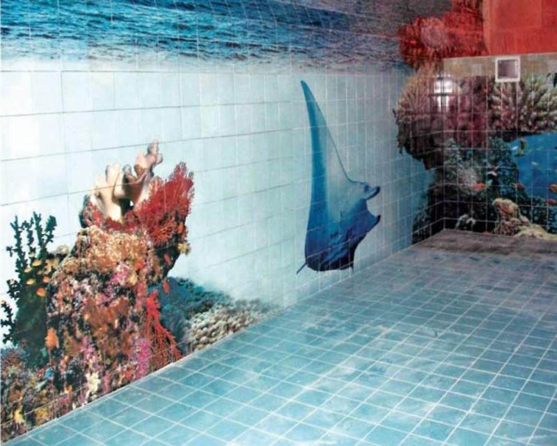 отделка бассейна специальной плиткой