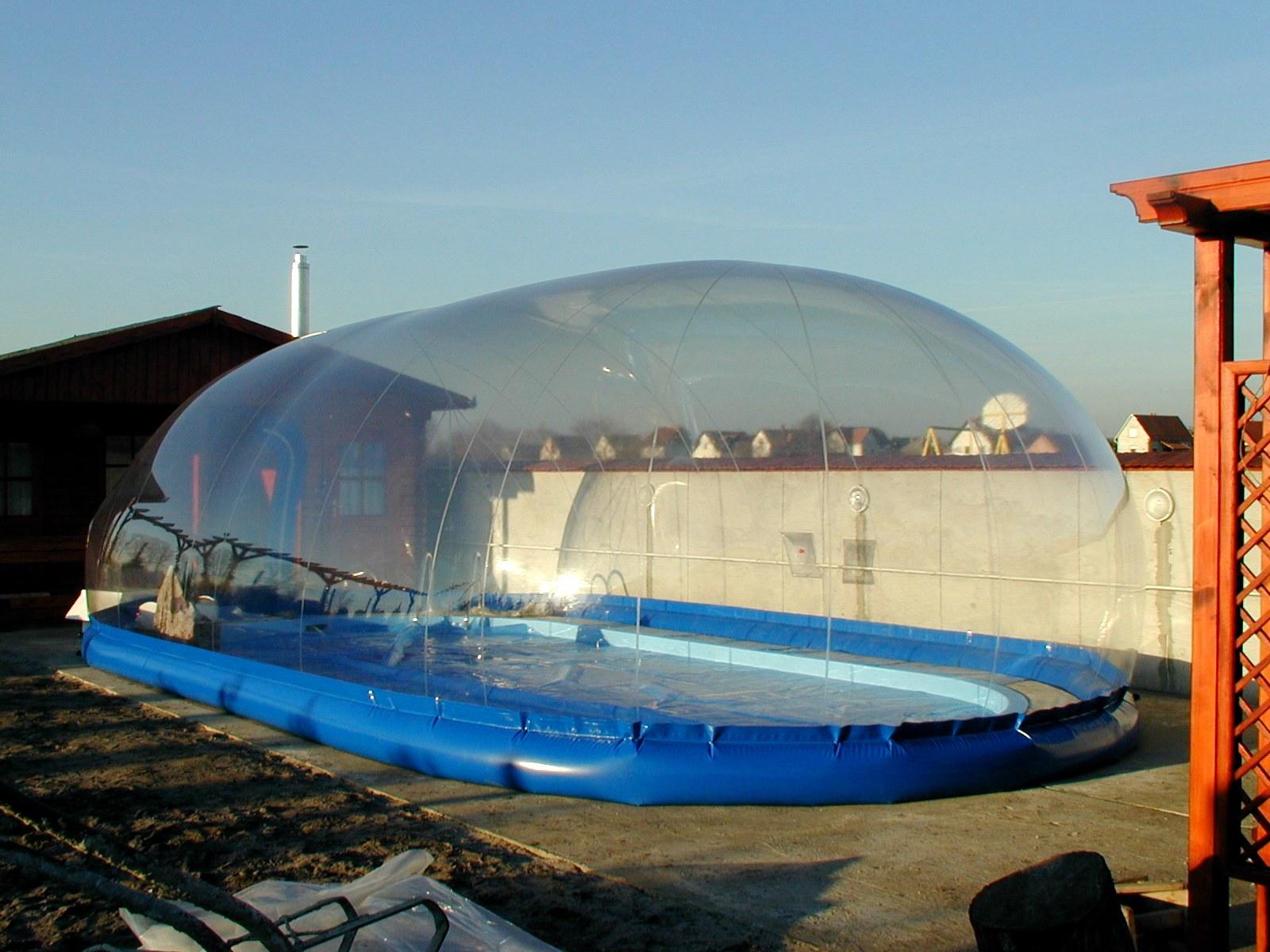 прозрачные воздушные павильоны для бассейнов