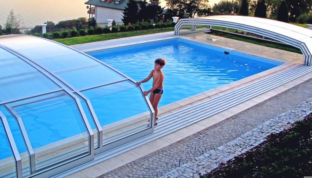 покрытия для бассейна - телескопическая система