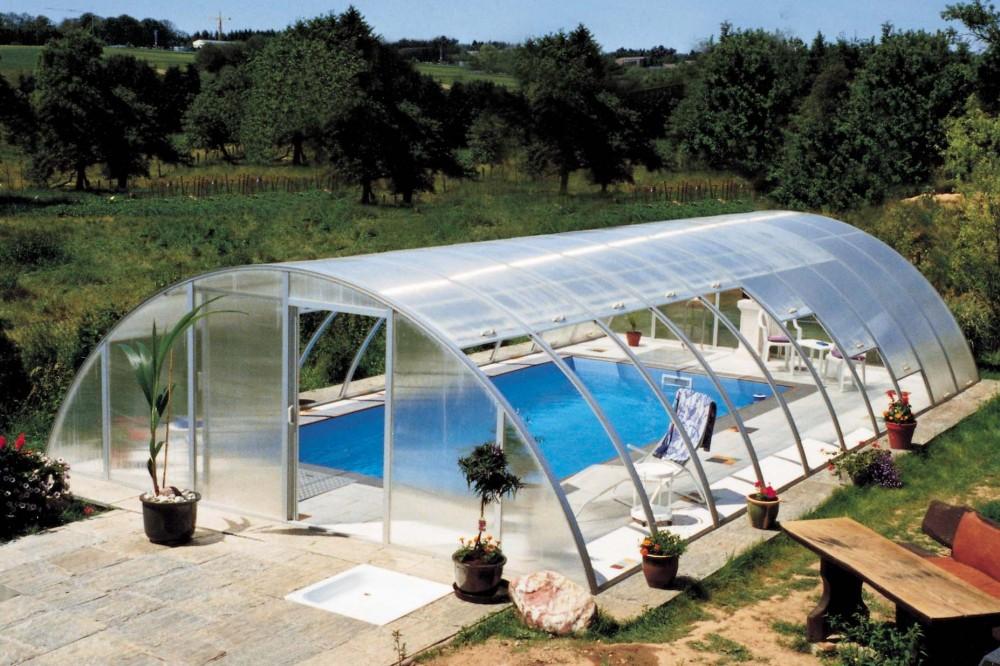 покрытия для бассейна: высокий павильон