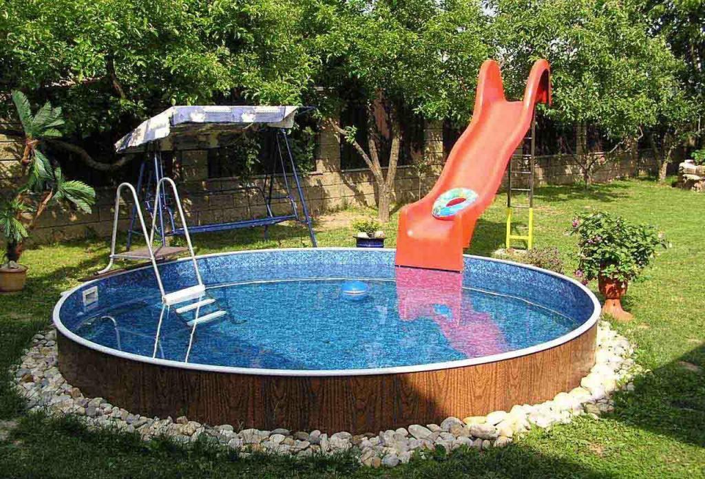 каркасный дачный бассейн