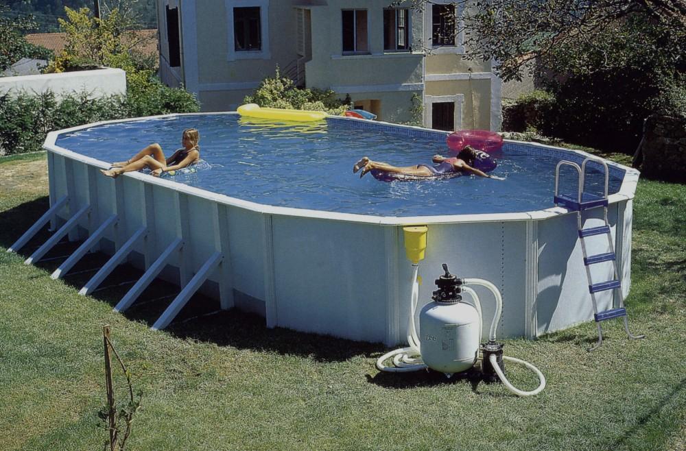 всесезонный дачный бассейн сборного типа