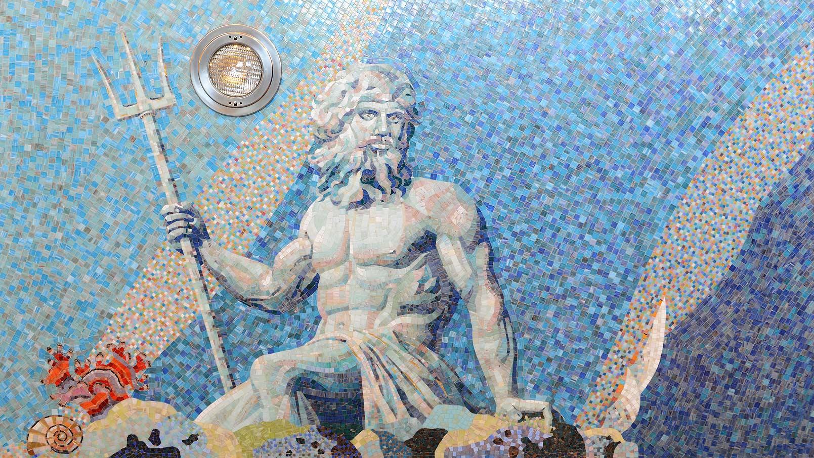 картины из мозаики для бассейна