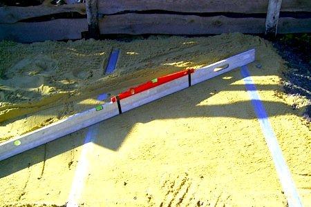 уличный бассейн - песчаная подушка