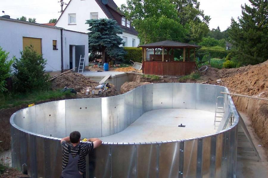 Строительство бассейна из нержавейки