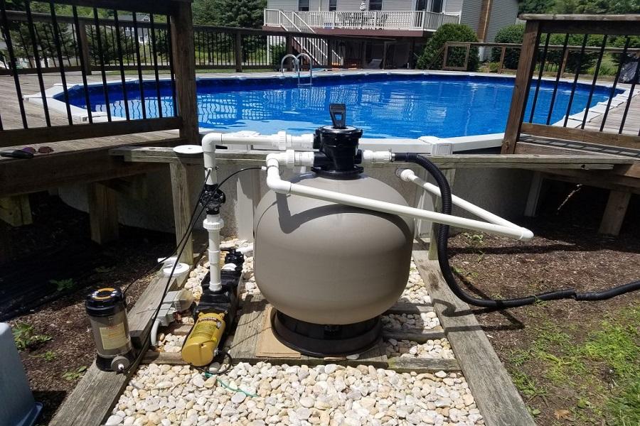 Фильтрующая установка для бассейнов