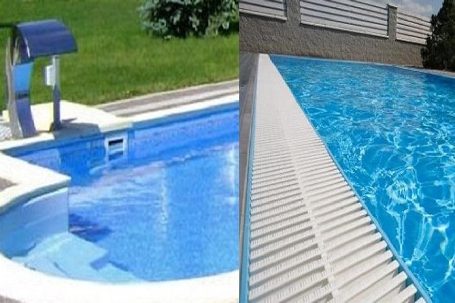 Фото скиммерного и переливного бассейнов