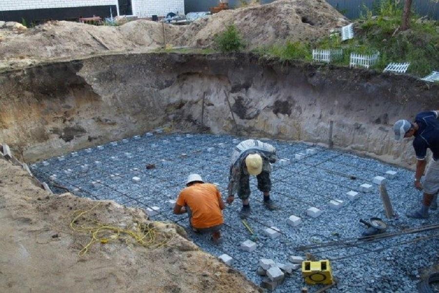 Этапы строительства бассейна ,армирование бассейна
