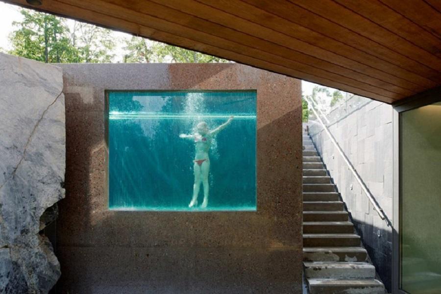 Бассейн в доме в Стокгольме