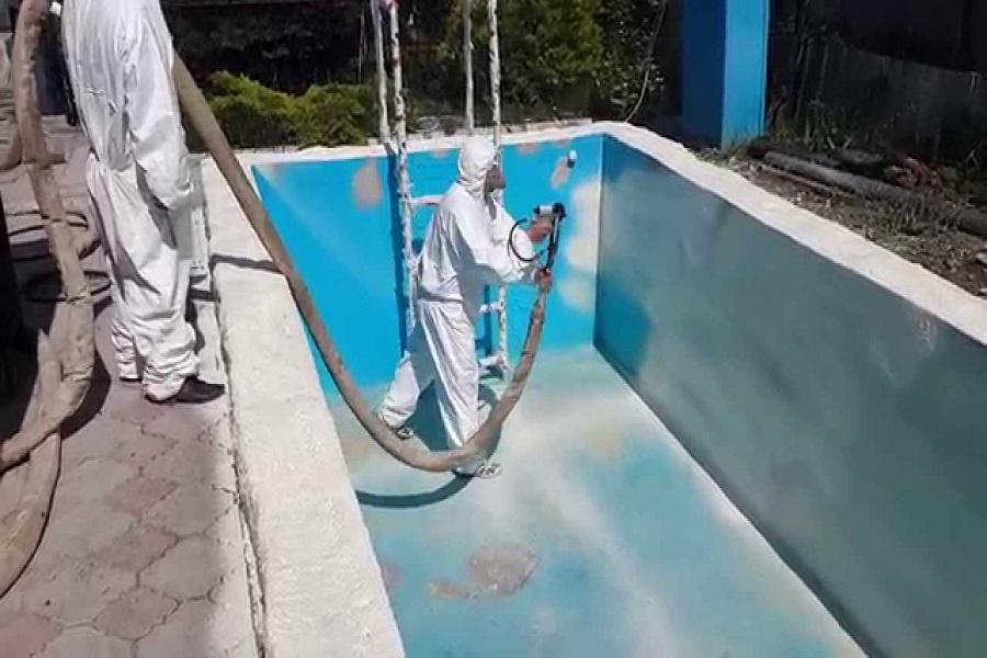 Гидроизоляция бассейна при помощи полимочевины