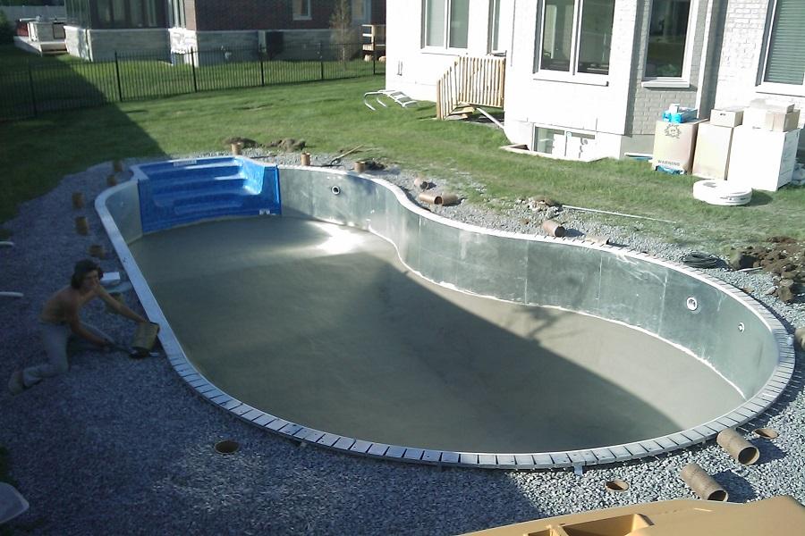 Строительство бассейна из стали